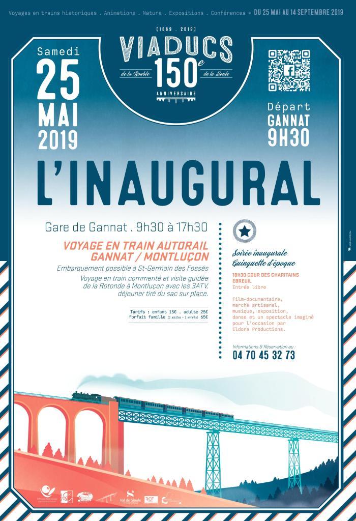Voyage en train découverte, inauguration en gare de Gannat, visite de la rotonde à Montluçon et déjeuner sur place.